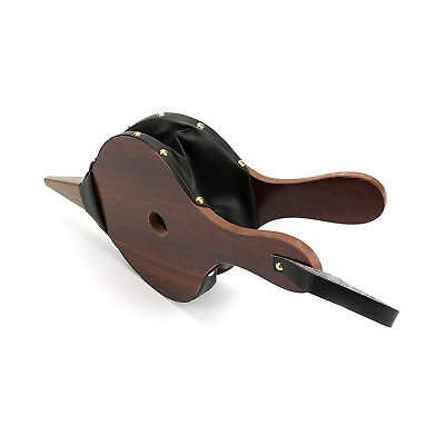 Wood Bellows Fireplace Brown Color Leather Strap Start Fire Home Antique Camping