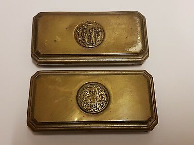 A Pair Of Antique Silver Plated Lids - Registered No.588909