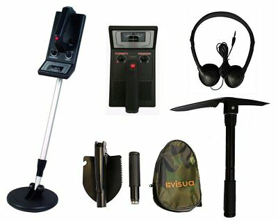 Beginners Discriminating Metal Detector + H/Phones Batts & Pick