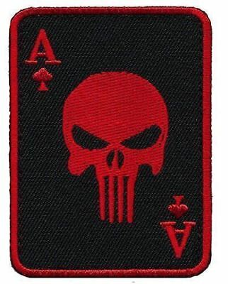 Patch Squad Men's Red Ace of Spade Death Dead Man Punisher Morale Patch