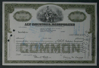 ACF Industries, Incorporation 1976 61 Shares .