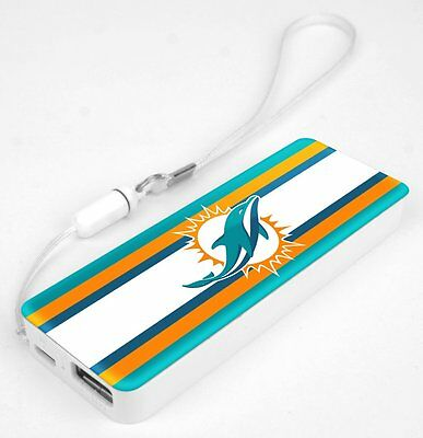 Mizco NFL Miami Dolphins 3K Slim Power Bank Powerbar