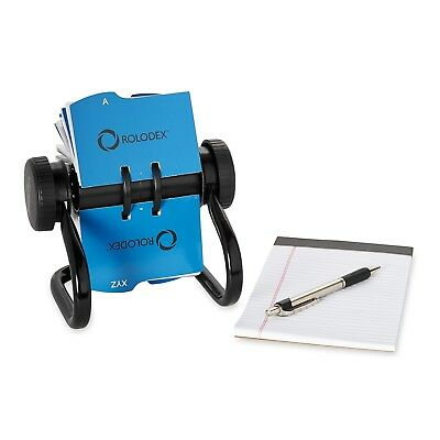 Rolodex Open Rotar AND Business Card File with 200 2-5/8 by 4 inch Card Sleeve