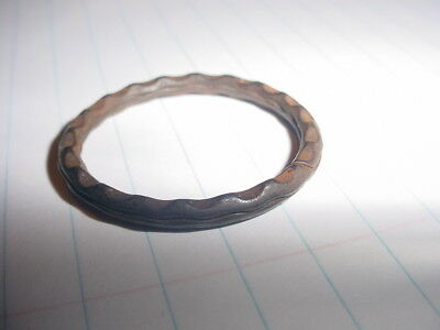 Original ~ Antique scalloped edge Key Ring  Fancy Vintage old Vintage Victorian