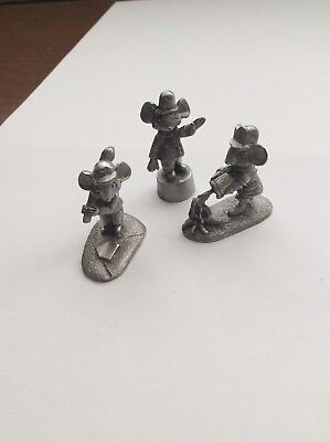 Spoontiques Pewter Mouse, Mini Mice, 3 Mice, Great Work Of Art So----- Cute