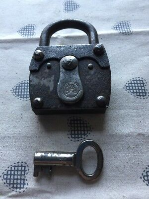 Vintage french padlock - very old marked SIDER