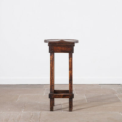 Lovely 19th Century Oak and Pine Shop Stool. Antique Seating