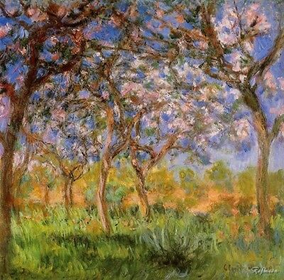 Claude Monet Giverny in Springtime Fine Art Giclee Canvas Print