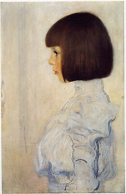Portrait of Frederika Maria Beer by Gustav Klimt Giclee Print Repro on Canvas