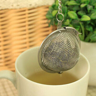 1 x Tea Ball Infuser Strainer Herb Leafs Stainless Steel Mesh Filter Spice Mug