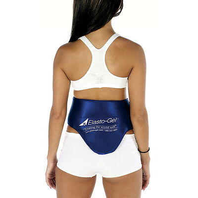 HOT & COLD THERAPY LUMBAR & ABDOMINAL WRAP by Elasto-Gel, Lower Back Relief! NEW