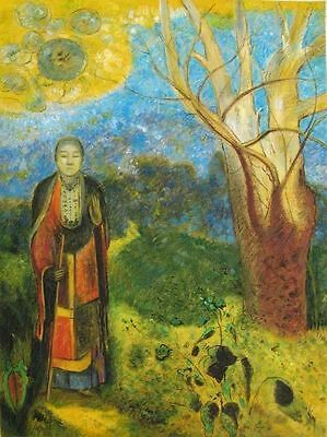 Handmade Oil Painting on Canvas repro Odilon Redon Buddha