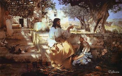 Henryk Siemiradzki Christ in the House of Martha and Mary Oil Painting repro