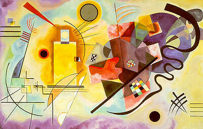Wassily Kandinsky Abstract Oil Painting repro Jaune Rouge Bleu