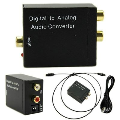 Optical Digital Coaxial Toslink Signal to Analog Audio Converter Adapter RCA PP0