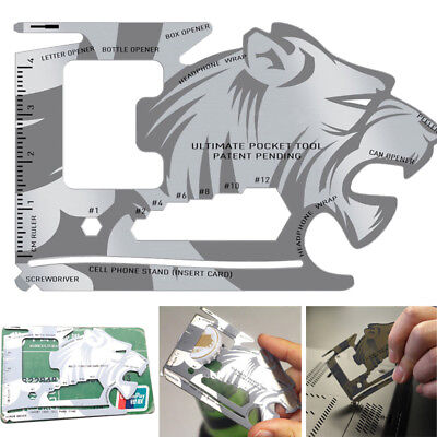 Lion Credit card size multi tool  9 FUNCTIONS FREE POST