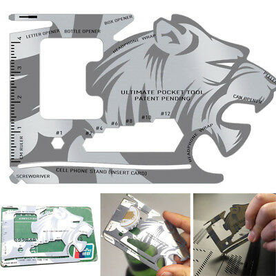 Lion Credit card size multi tool  FREE POST UK STOCK