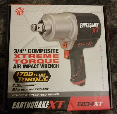 "Earthquake XT 3/4"" Composite Xtreme Torque Air Impact Wrench EQ34XT NEW in Box"
