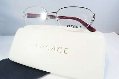 24666ef490f VERSACE WOMEN S SILVER Glasses with case MOD 1215-B 1000 53mm ...