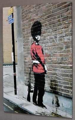 Banksy Queens Guard Canvas Picture Poster Print Wall Art Unframed #a359