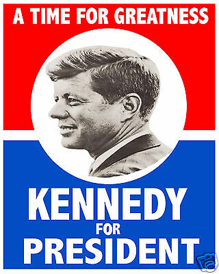 John F. Kennedy JFK 1960 Campaign Election 11 x 14 Photo Poster Picture