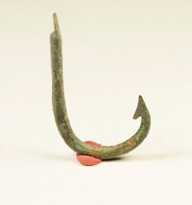 Ancient Roman Bronze Fish Hook C. 1st-2nd century A.D.