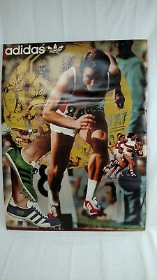 Original Vintage Adidas Store Dislay Poster Track / Running Shoes