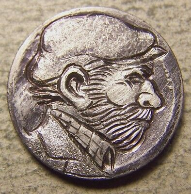 "Classy Hand Carved Original Hobo Nickel, Coin Art ,""..BADGER  O`HARE  ."""