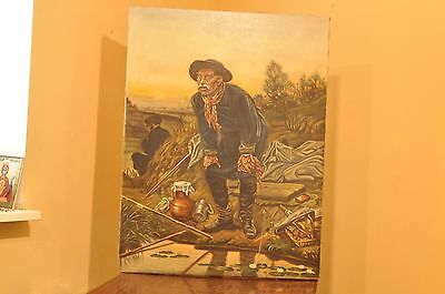 The big picture of a great artist Vasily Perov oil on canvas   Fisherman