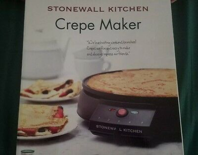 Electric Crepe Maker By Stonewall Kitchen pancake Griddle new!