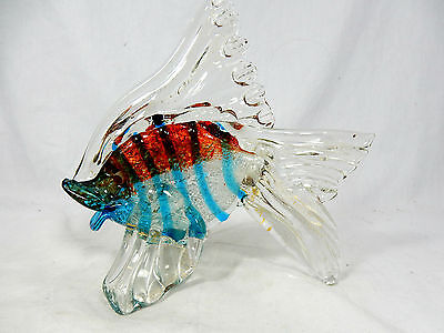 Well shaped & colourful Murano Glas Fisch / glass fish  18,5 cm      10086