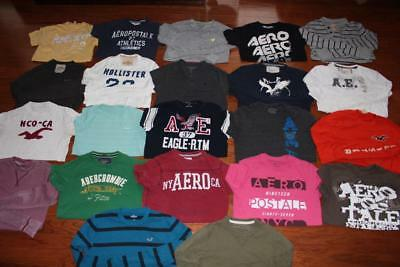 Lot Of 22 Mens Hollister American Eagle T Shirts Aero Graphic Tees A&f Small