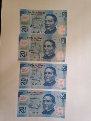 Mexican Bills 20 Pesos (Circulating)
