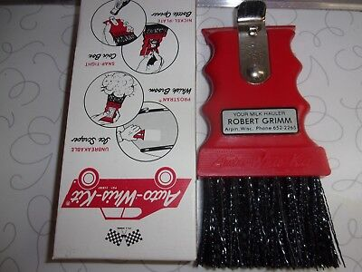 Vintage Auto Whiz W Kit Whisk Broom Ice Scraper Advertising Arpin Wisconsin Wi