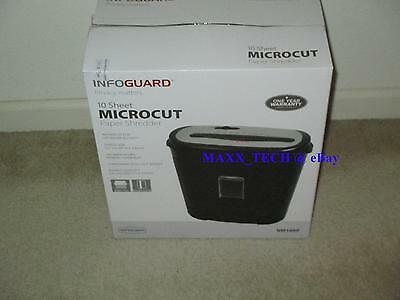 10 Sheet Micro-cut Paper Shredder Model NM100P by InfoGuard