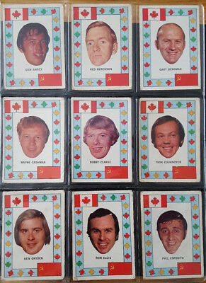 1972-73 OPC O-PEE-CHEE CANADA vs RUSSIA SUMMIT SERIES ALMOST COMPLETE SET 27/28