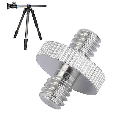 1/4 inch Male to 1/4 inch Male Camera Screw Adapter For Tripod Mount Holder AQ