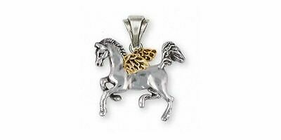 Horse Angel Pendant Jewelry Silver And Gold Handmade Horse Pendant EQU2-TNAP