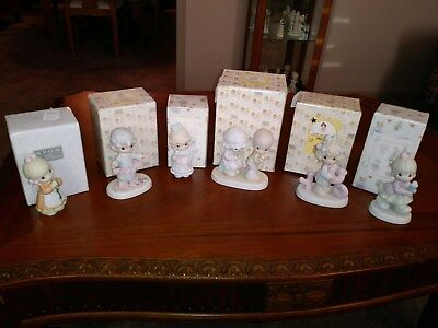 Precious Moments lot of 6 Valentine's related figurines