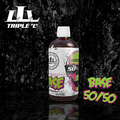 E-Liquid Base 1000ml, 0mg, 3mg, 6mg, 12mg,inkl. Nik.Shots, VPG 50/50,70/30,80/20