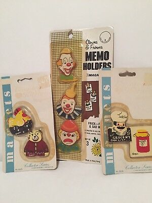 Lot Of 7 Vintage New In Package Magnets