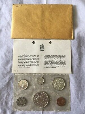 1965 Canadian Mint Set - Silver Coins - Uncirculated - (e)