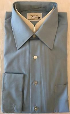 Vintage 1960s Men's Poly Blend Dress Shirt French Cuffs Never Worn Size 16 - 33