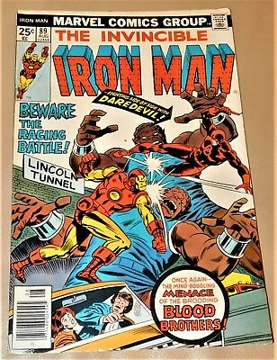 The Invincible Iron Man, Vol.1, No. 89 – August 1976 - Marvel Comics Group.