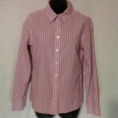 69035de7 BANANA REPUBLIC Women's Size 6 Stretch Non Iron Fitted Purple Button Down  Shirt