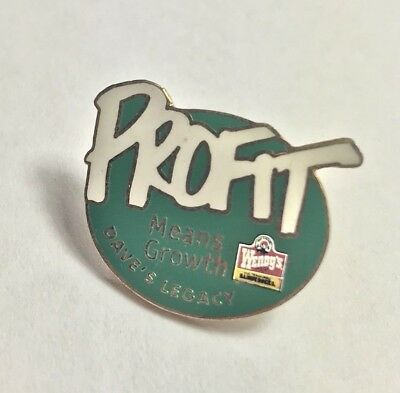Wendy's Restaurant Pin | Profit Means Growth Dave's Legacy | RARE