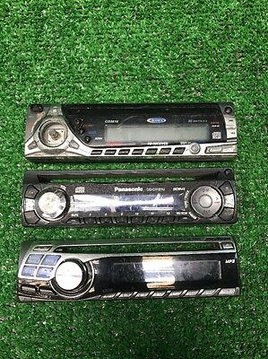 Lot Of 3 Stereo Faceplates Alpine Jensen Panasonic For Reseller Fast Shipping