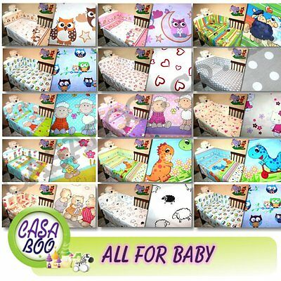 2,3,4,5 Pcs Baby Nursery Bedding Set Cot, Duvet Quilt Pillow Bumper