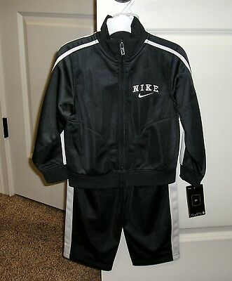 Nike 2 Piece Boys 3T Anthracite Poly Track Suit NEW W/ Tags