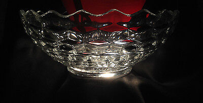 Vintage Early American Fostoria  Footed Bowl  10 1/2 inches #2056#1